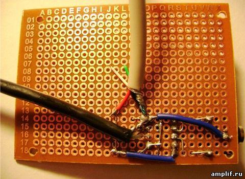 Монтаж микросхемы усилителя