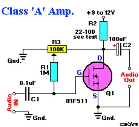 полевого транзистора и