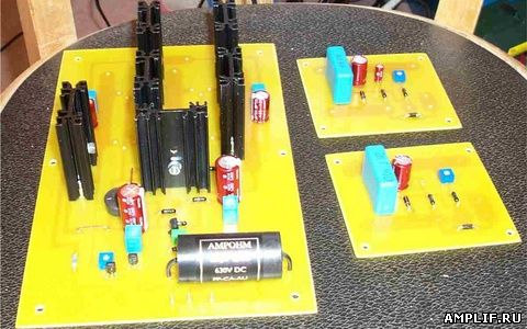 Транзисторный УМЗЧ - сборка