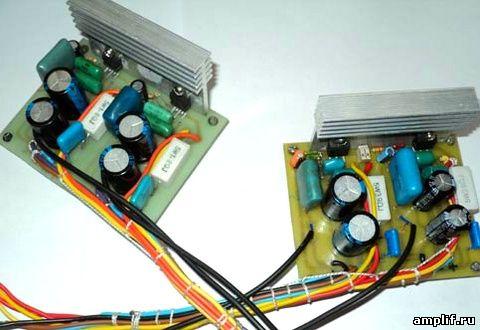 Самодельный мостовой усилитель на микросхемах