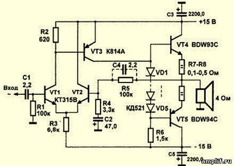Выходные транзисторы были