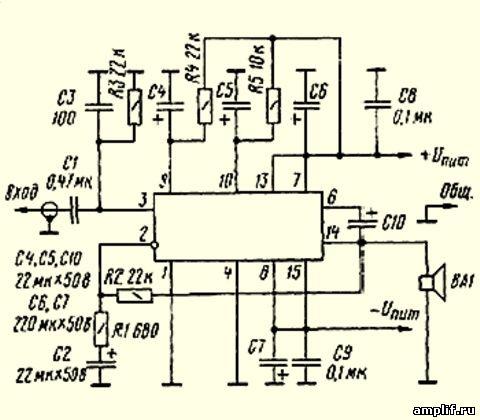 И вот недавно в интернете увидел схему усилителя на TDA7295.  Мне показалось странно.